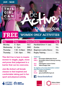 be active donnington this girl can a4 timetable poster d3263 tgc2 vado