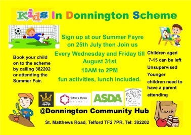kids in donnington scheme poster 4