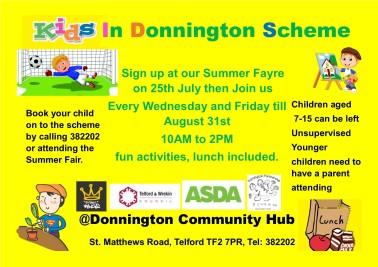 kids in donnington scheme poster 4
